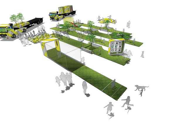 Andrew Maynard Architects' The Portable Park Concept.