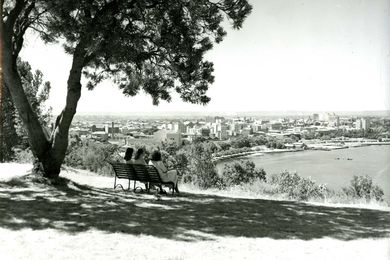 View from King's Park over the Western Australian city of Perth, 1947.