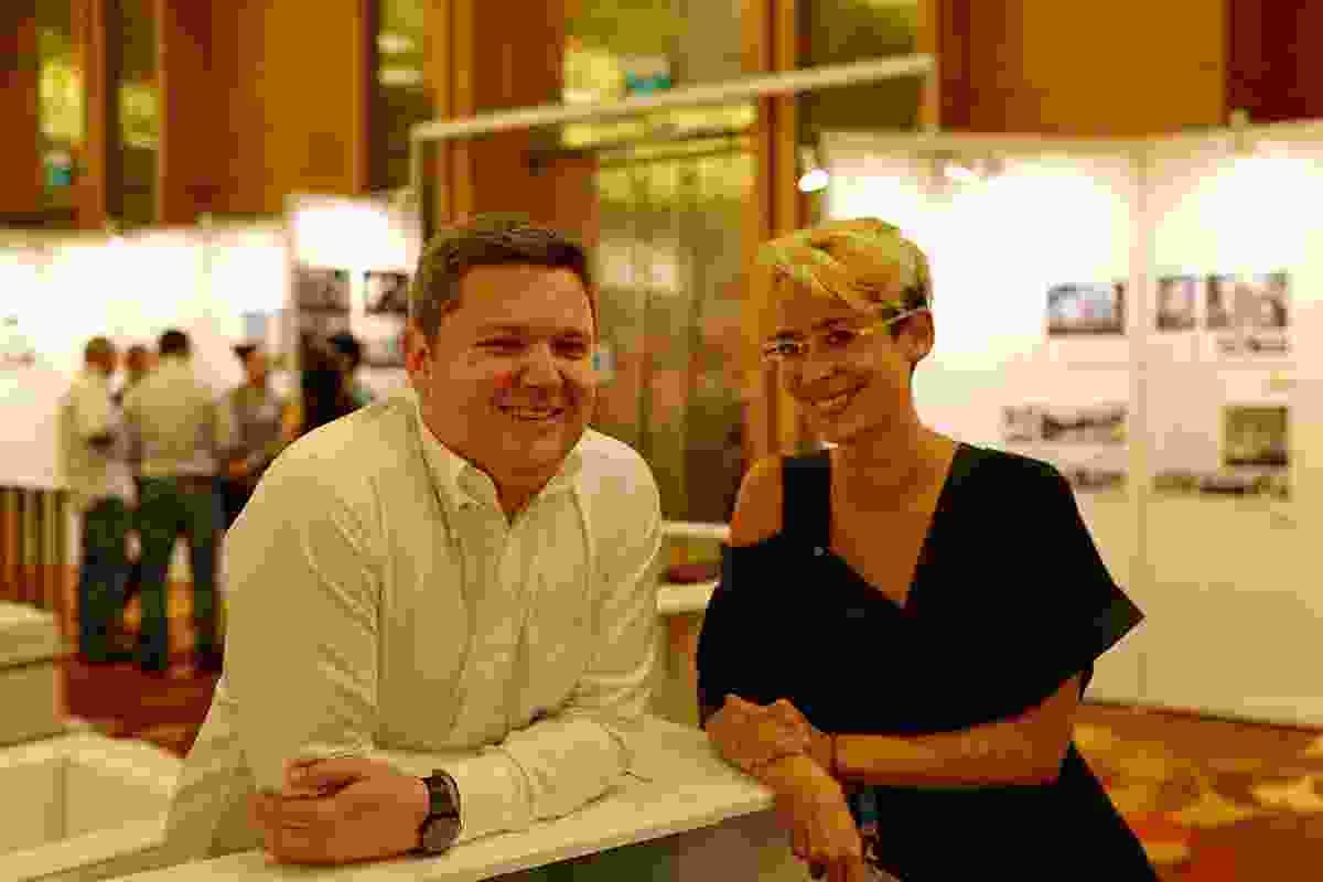 Cameron Bruhn (WAF 2013 juror) with Sam Spurr (University of Adelaide).