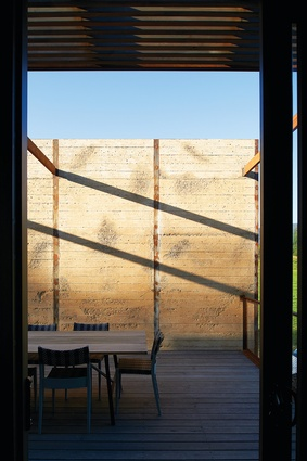 Timber formwork was used to shape the exterior walls, lending them a grain that adds  a tactile quality.