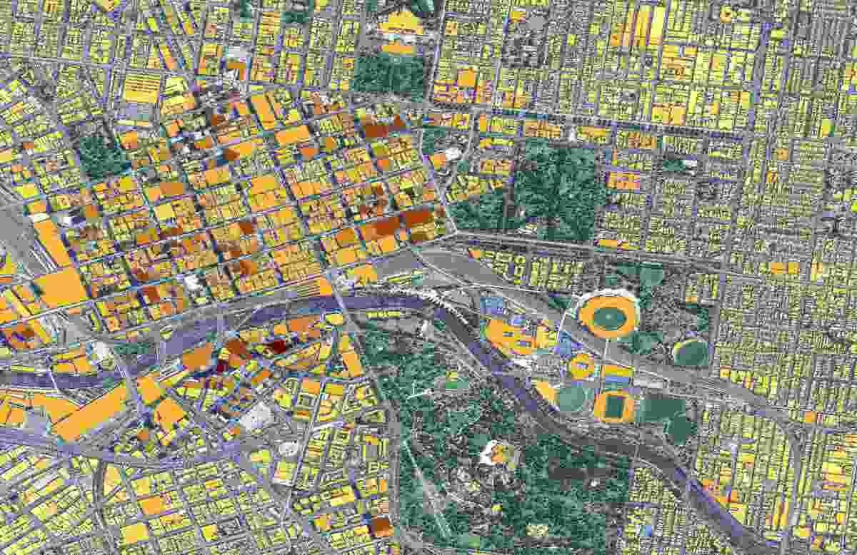 Geoscape data of Melbourne.