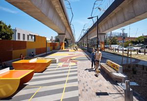 Caulfield to Dandenong Level Crossing Removal Project by Aspect Studios and Cox Architecture