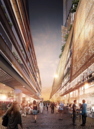 The new North-South laneway by PTW Architects and Collins and Turner.
