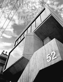 Plumbing Division (GPGEU). Former Plumbers and Gasfitters Union Building, Graeme Gunn, 1970. Photograph Ian McKenzie.