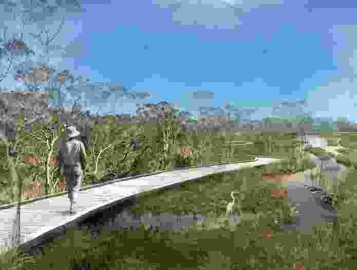 Place Design Group's Archerfield Wetlands precinct plan.