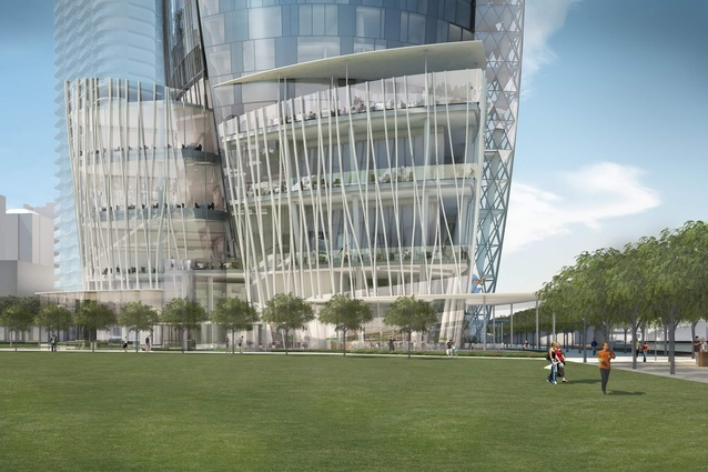 The proposed Crown Resorts tower by Wilkinson Eyre Architects.