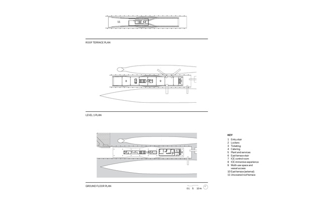 The Waterfront Pavilion floor plans.