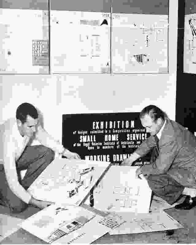 Robin Boyd was the first director of the Royal Victorian Institute of Architects (RVIA) Small Homes Service (SHS). Established in 1947, the SHS sought to popularize the modern home and make it available to a broad public.