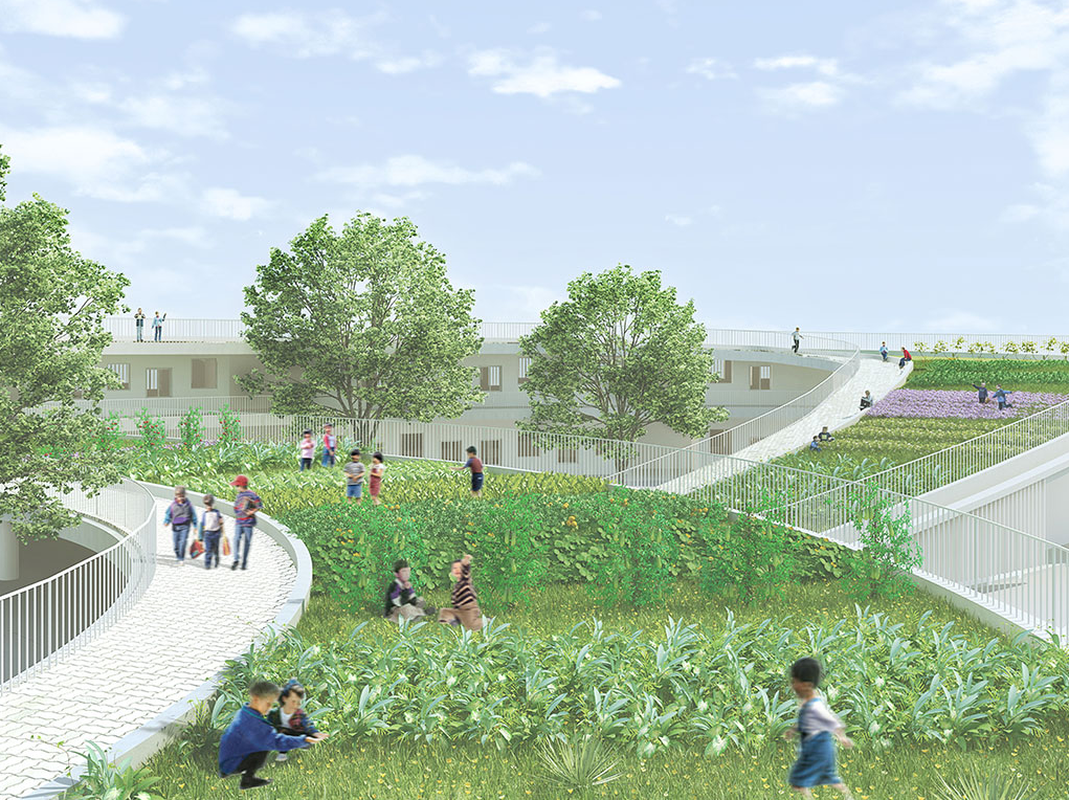 Farming Kindergarten by Vo Trong Ngia Architects.