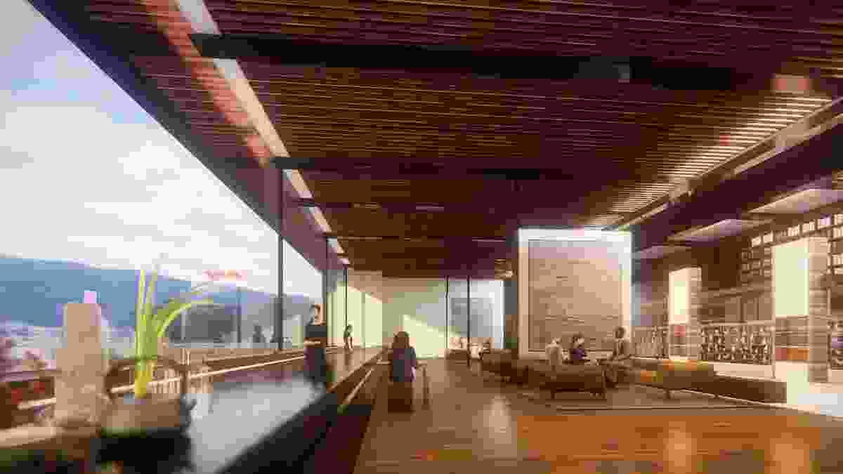 The foyer of the proposed MONA Motown by Fender Katsalidis.