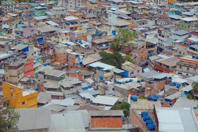 A favela in Rio de Janeiro.