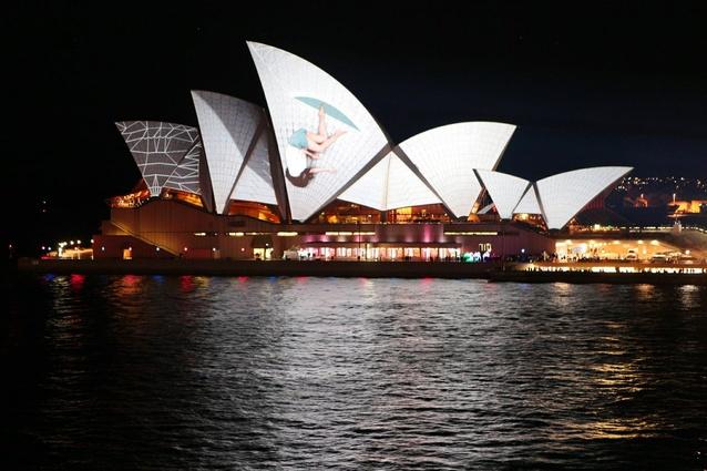 UrbanScreen's <em>Lighting the Sails</em>.
