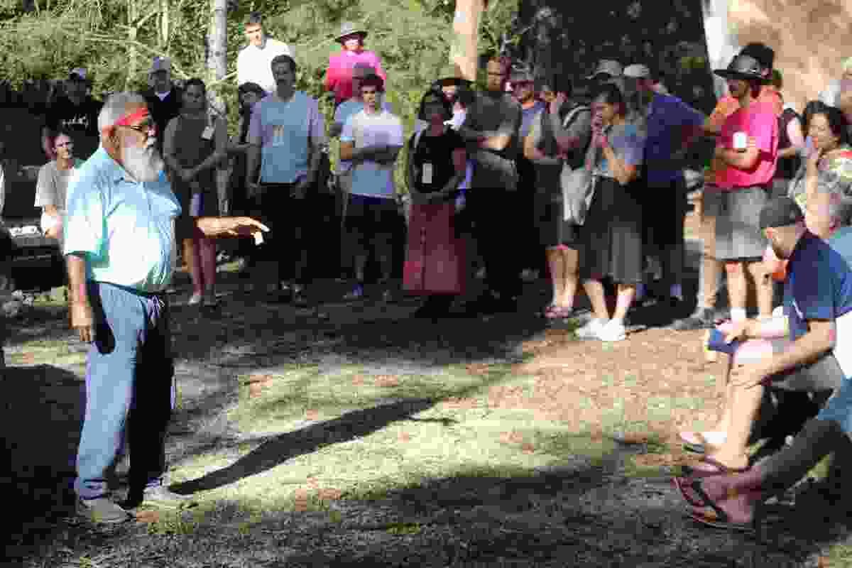 Welcome ceremony by Uncle Max Dulumunmun Harrison, Aboriginal Elder.
