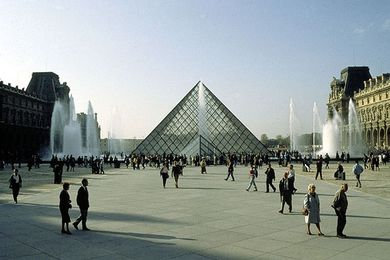Grand Louvre in Paris by I.M. Pei.