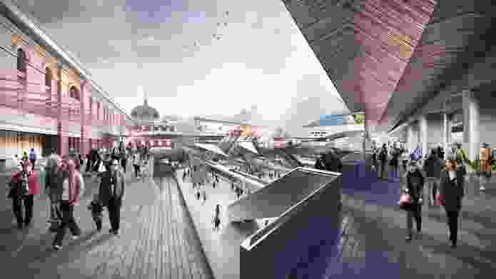 John Wardle Architects + Grimshaw: New concourse.