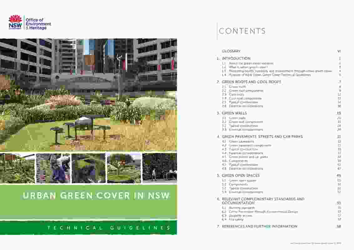 Urban Green Cover in NSW Technical Guidelines by NSW Government Architects Office Landscape and Urban Design Group.