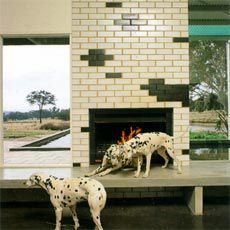 The chimney, set against a picture window, generated from the dalmation's spots. Image: Erica Lauthier