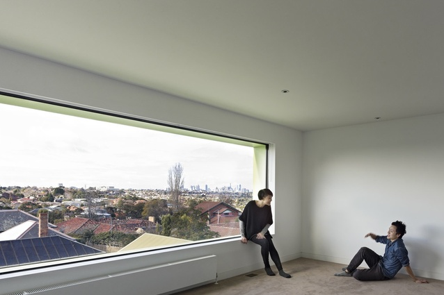 The top-level study window offers a  panoramic view.
