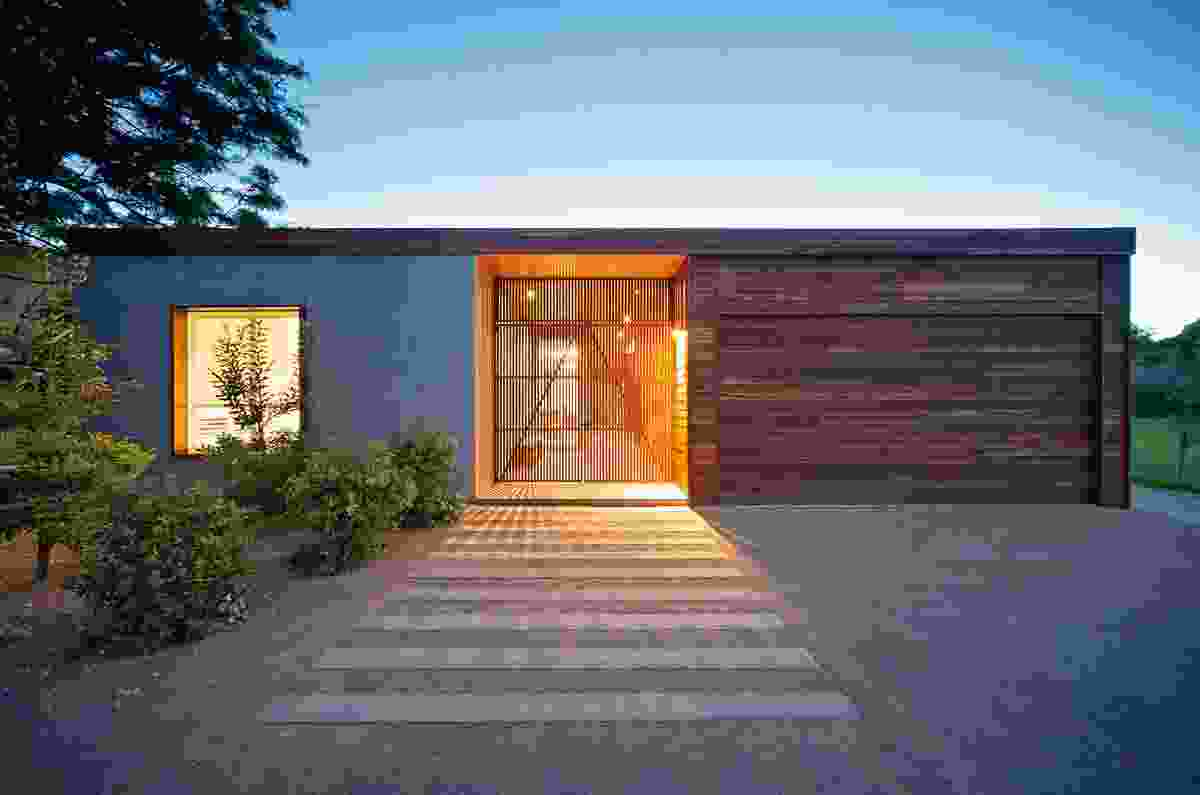The Sorrento project, Mornington Peninsula, 2010.  The entry to the most northern of the two houses that make up the Sorrento project.