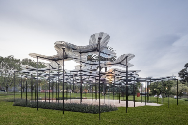 The 2015 MPavilion designed by Amanda Levete.