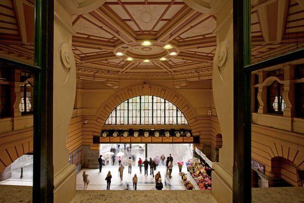 Flinders Street Station interior.