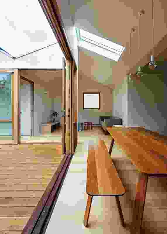Visual connections between spaces were important to the clients.