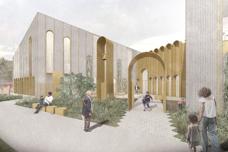 The addition to St Mary's Coptic Orthodox Church in Kensington, designed by Studio Bright.