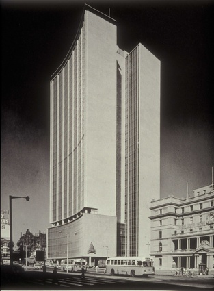 The AMP building, originally designed by Peddle Thorp and Walker was opened in 1962.
