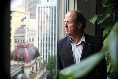 Rob Adams in his office at Council House 2 (CH2), Australia's first building to be awarded a six-star Green Star design rating.