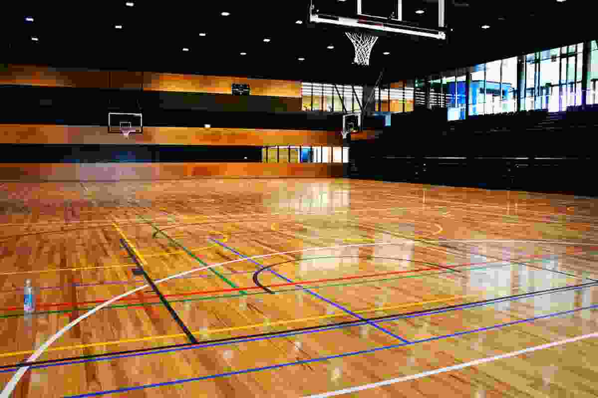 The main building houses a multipurpose indoor playing court.