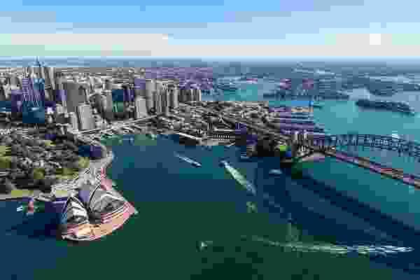 Sydney cityscape.