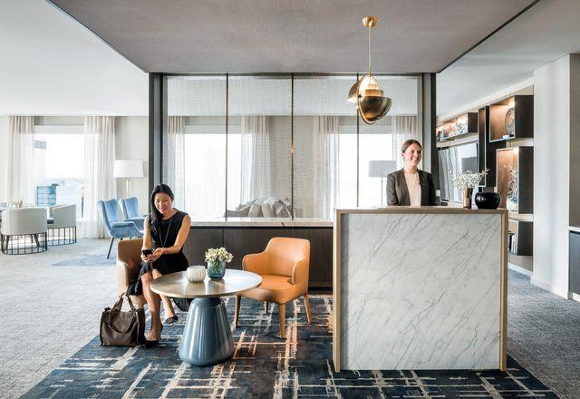 五星级的珀斯城市中心洲际酒店拥有240间客房和一间顶层套房。