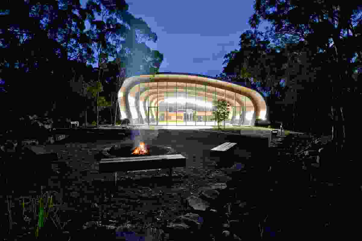 Milson Island Indoor Sports Stadium by Allen Jack + Cottier Architects.