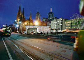 The new design for the northwest corner of Federation Square.