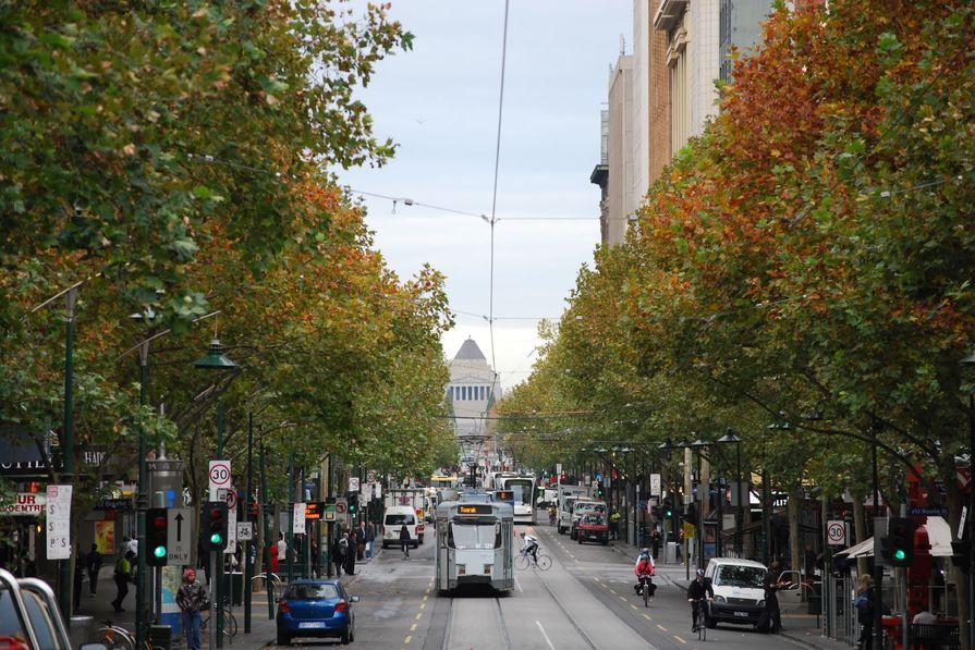 Swanston Street, Melbourne.