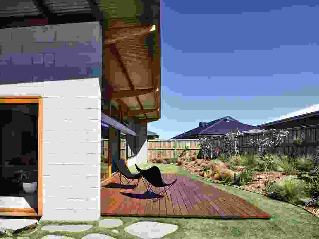 Ample space is given over to the garden, with the house's footprint set metres within the site boundaries.