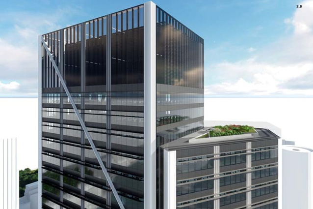 The roof of the proposed Circular Quay tower designed by Foster and Partners.