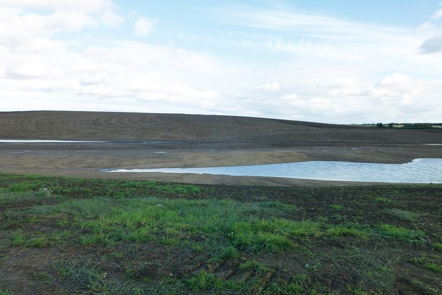 The Shotton surface mine is an operational coalmine adjacent to the Northumberlandia land sculpture.