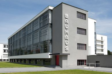 The Bauhaus school in Dessau, Germany.