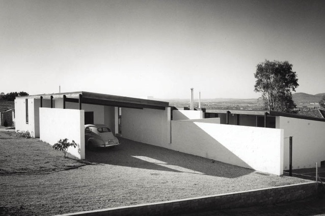 An original 1965 photograph of the Cater house by David Moore.