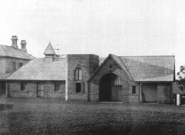 Stables at Baroona, Whittingham, 1890. Photo Cutts Collection, Newcastle Regional Public Library.