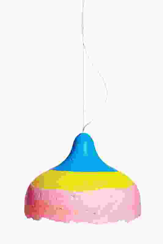 The colourful Polly Popper pendant is the result of the designers bonding ideas.