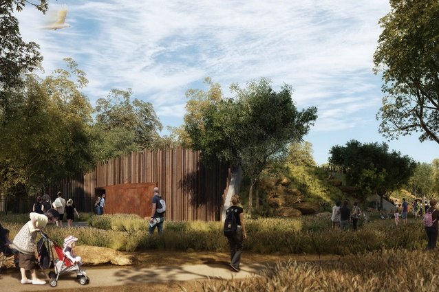The reptile and insect habitat of the proposed Sydney Zoo designed by Misho and Associates.