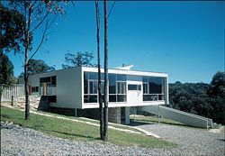 Rose Seidler House, Wahroonga. The first project designed by Harry Seidler in Australia, as photographed by Marcel Seidler, 1950.