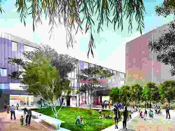 The proposed Ballarat GovHub by John Wardle Architects includes a public plaza.