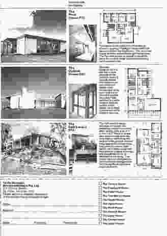 A Merchant Builders catalogue.
