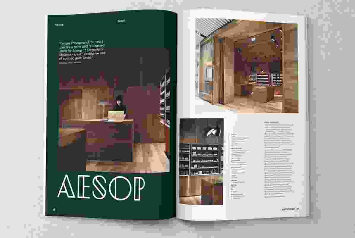 Aesop at Emporium Melbourne by Kerstin Thompson Architects.