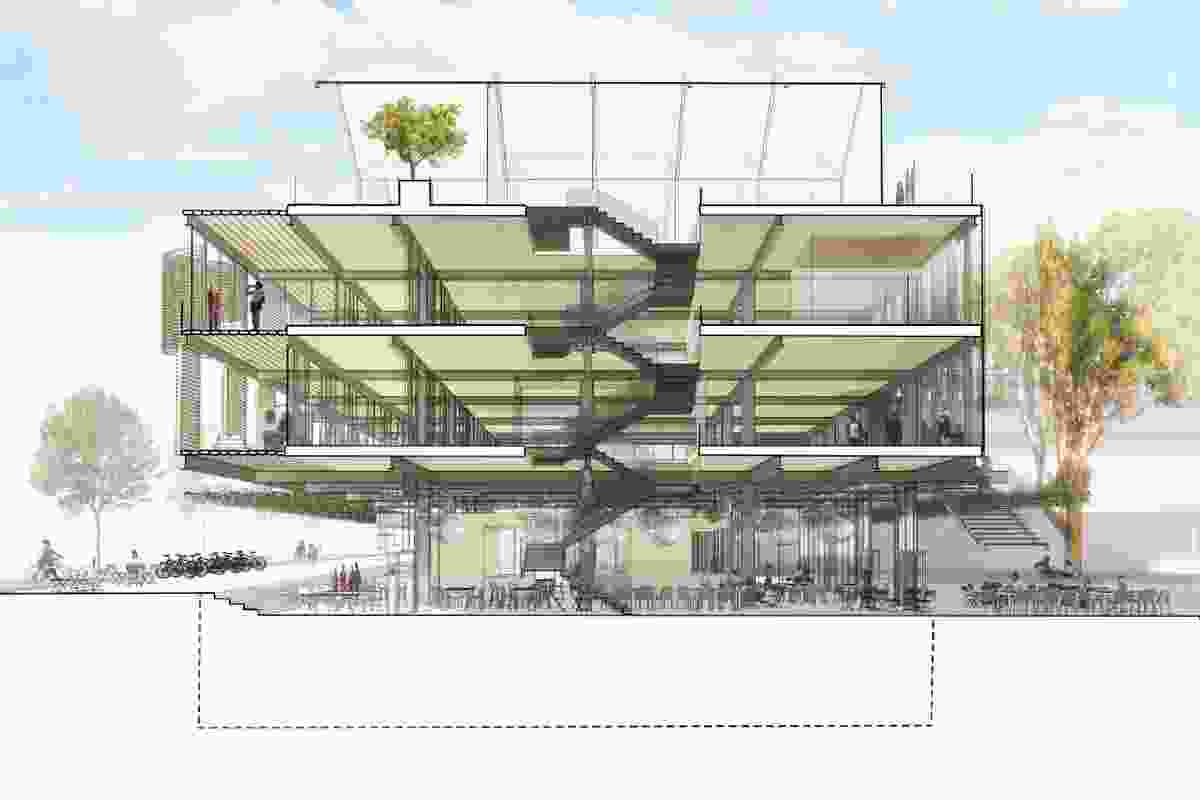 The proposed Student Pavilion.