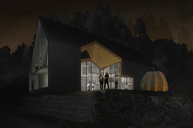 The proposal by De Manincor Russell Architecture Workshop.