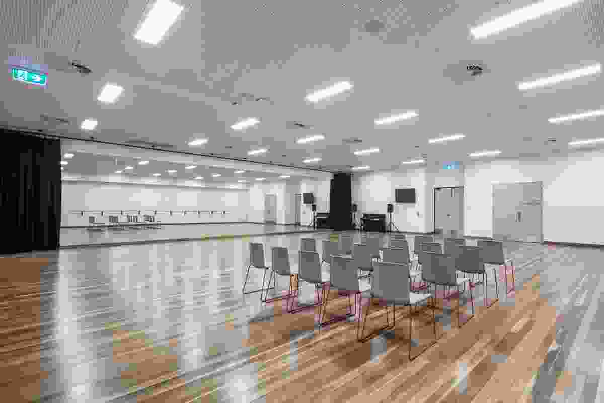 The rehearsal room in the redevelopment of Her Majesty's Theatre by Cox Architecture.